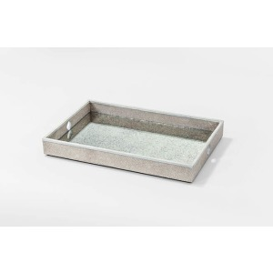 Flora Faux Shagreen Serving Tray – Set of 2