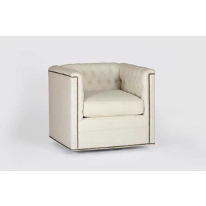 Thatcher Swivel Chair   Custom Tailored