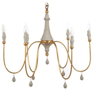 Clay Chandelier – Silver