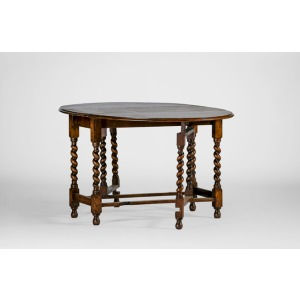Barley Twist Gate Leg Antique Dining Table