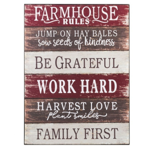 Wall Plaque - Farmhouse Rules