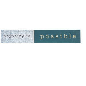 Routed Plaque - Anything is Possible
