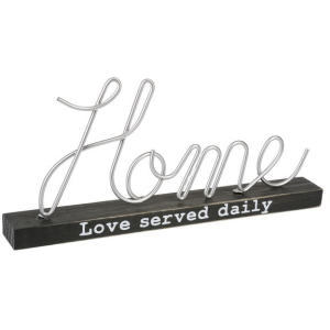 Made with Love Wire Shelf Sign