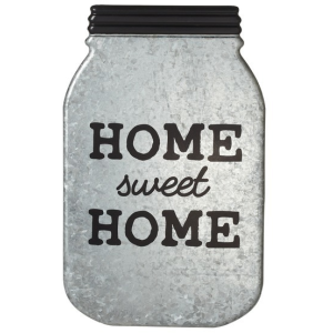 Home Sweet Home - Galvanized Mason Jar Wall Decor
