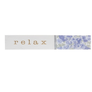 Routed Plaque - Relax Accept the Crazy