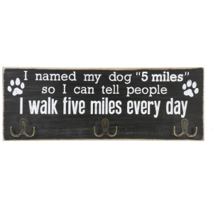 Pet Leash Wall Hook Plaque