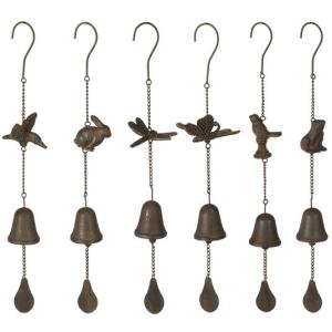 Garden Critter Bell Windchime (6 asstd)