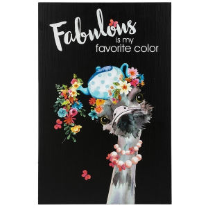 Small Wall Plaque -  Fabulous is my favorite color