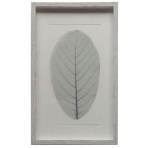 Gray Leaf w/White Frame