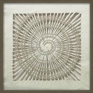 Paper Art w/Dark Wood Frame
