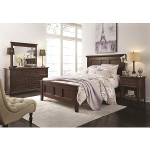 Brentwood 4PC Queen Bedroom Set - Cherry Sunset