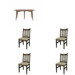 Louisville 5PC Dining Set - Walnut
