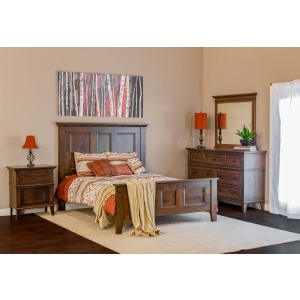 Brentwood 4PC Queen Bedroom Set - Walnut