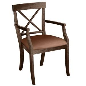 La Croix Arm Chair w/ Leather Seat