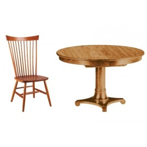 Meyer Pedestal Table with 4 Chairs