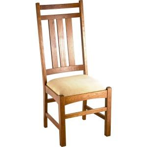 Mission Slat Side Chair w/ Fabric Seat