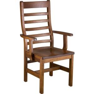 Lorre Arm Chair w/ Wood Seat