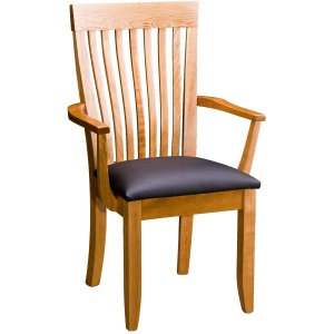 Monterey Arm Chair w/ Leather Seat