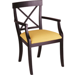 La Croix Arm Chair - Upholstered Seat