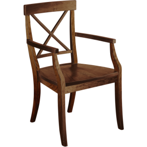 La Croix Arm Chair - Wood Seat