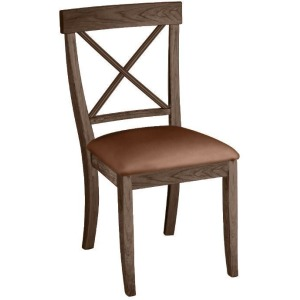 La Croix Side Chair w/ Leather Seat