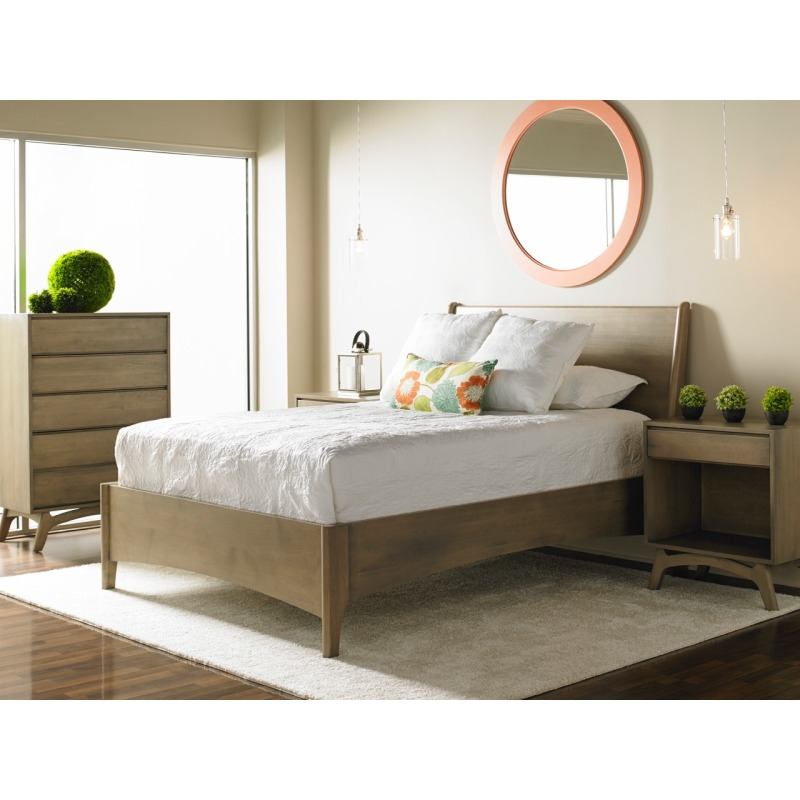 Brancusi Sleigh Bed - California King Lifestyle Image