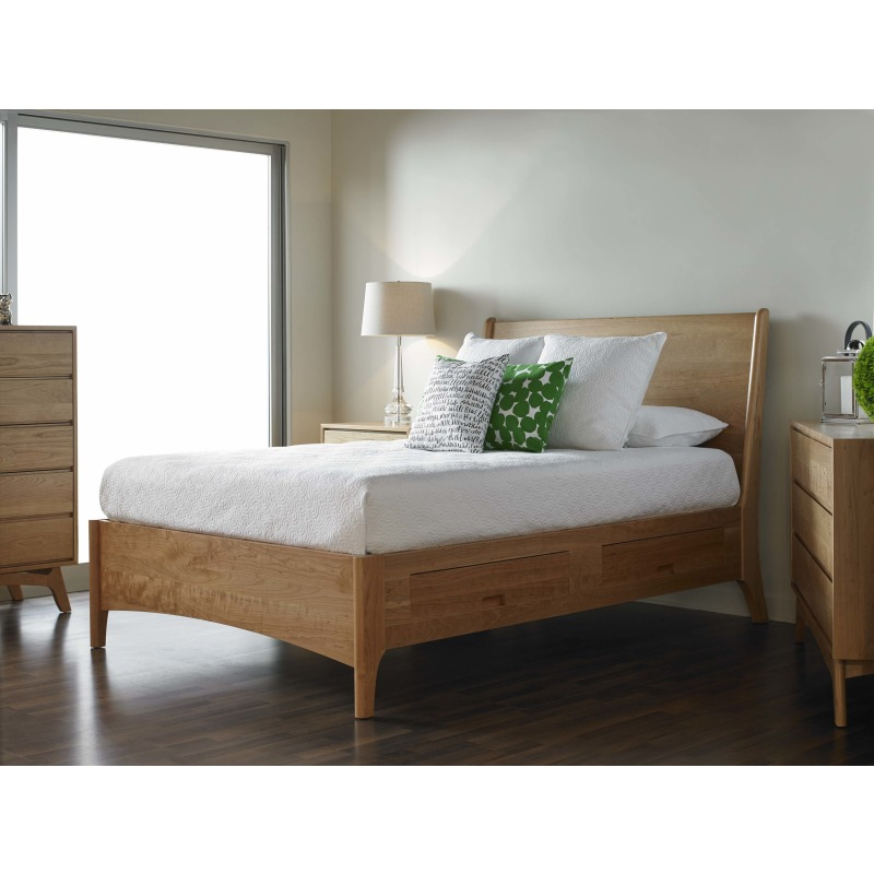 Brancusi Sleigh Storage Bed - King Lifestyle Image