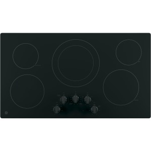 """36"""" Built-In Knob Control Electric Cooktop"""