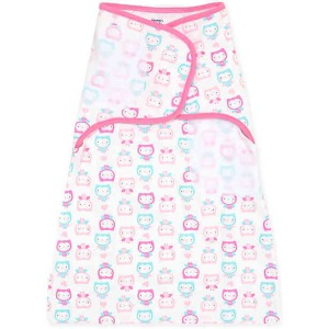 Girls Owl Simply Secure Swaddle