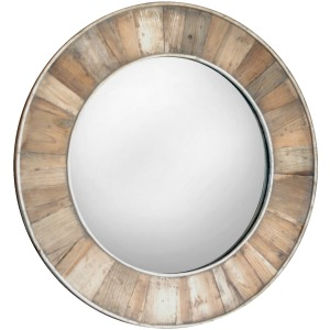 Pine Round Mirror W/ Natural Wax Seal