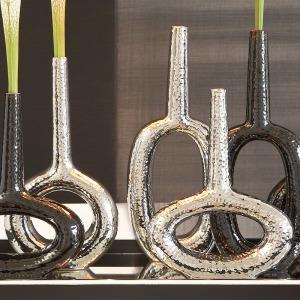 Keyhole Vase-Vertical-Silver