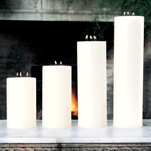 "3 Wick Pillar Candle-Unscented-5""x8"""