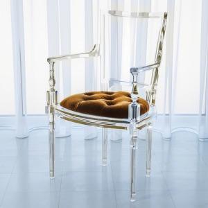 Marilyn Acrylic Arm Chair-Brown Sugar-Gold