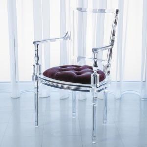 Marilyn Acrylic Arm Chair-Sultana-Lavender