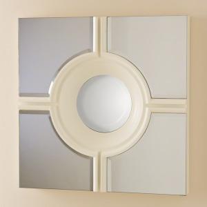 Bull\'s Eye Cross Mirror-White
