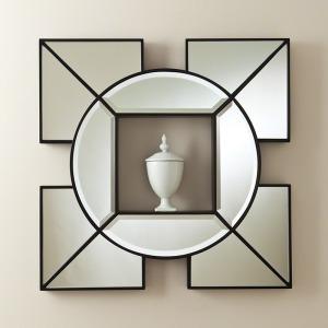 Arabesque Shadow Box Mirror-Black