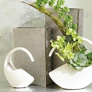 Organic Lace Vase-Silver-Medium