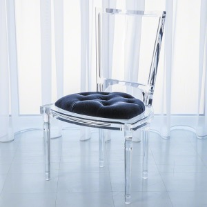 Marilyn Acrylic Side Chair-Admiral Blue