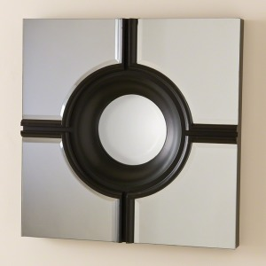 Bull\'s Eye Cross Mirror-Black