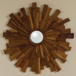 Industrial Wooden Mirror