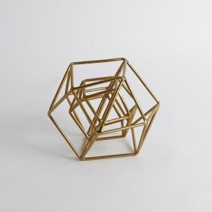 Geo Sculpture-Gold-Sm