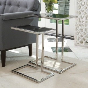 Cozy Up Table-Stainless Steel Finish-Lg