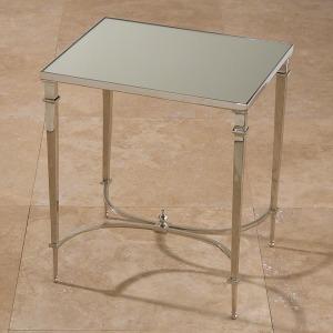 Rectangular French Square Leg Table-Nickel & Mirror