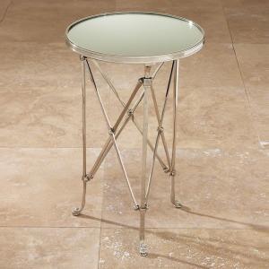 Directoire Table-Nickel & Mirror