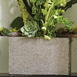 Organic Lace Vase-Silver-Sm