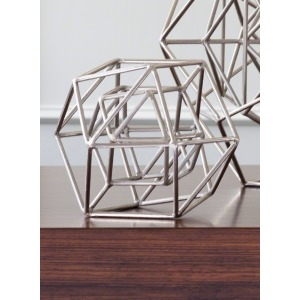 Geo Sculpture-Nickel-Sm