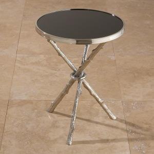 Twig Table-Nickel & Black Granite