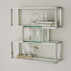 One Up Wall Shelf-Stainless Steel Finish