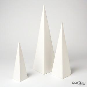 S/3 Pyramid Objet-Matte White