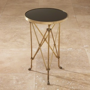 Directoire Table-Brass & Black Granite
